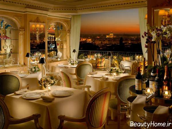 دکوراسیون زیبا و لوکس رستوران