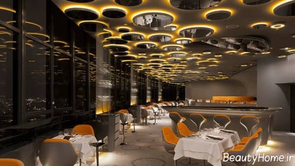 دکوراسیون زیبا و شیک رستوران