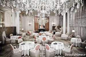دکوراسیون رستوران مجلل و سفید