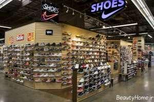 دکوراسیون مدرن فروشگاه کفش