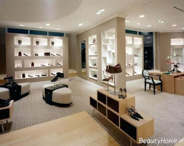 طراحی داخلی فروشگاه کفش فروشی