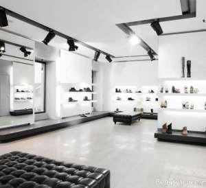 دکوراسیون داخلی مغازه کفش فروشی
