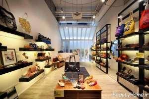 دکوراسیون زیبا و شیک مغازه کفش فروشی