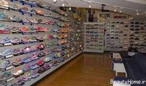 دکوراسیون شیک و جالب مغازه کفش فروشی