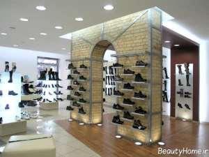 نورپردازی مغازه کفش فروشی