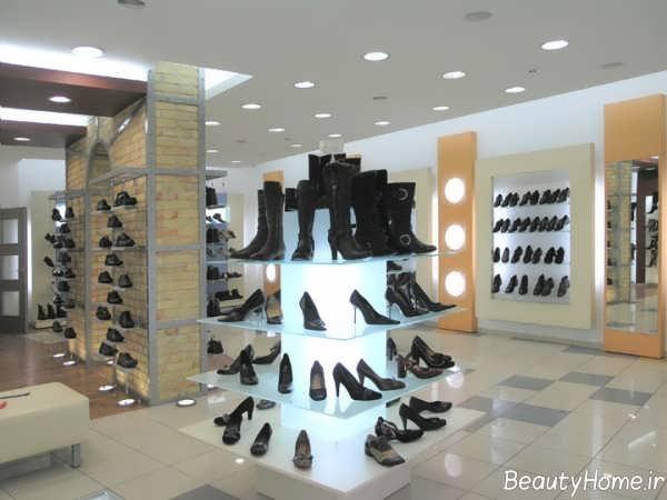 دکوراسیون زیبا و شک مغازه کفش فروشی