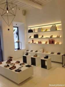 طراحی نورپردازی مغازه کفش فروشی