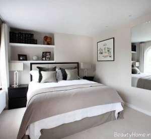 دکوراسیون زیبا و شیک اتاق خواب کوچک