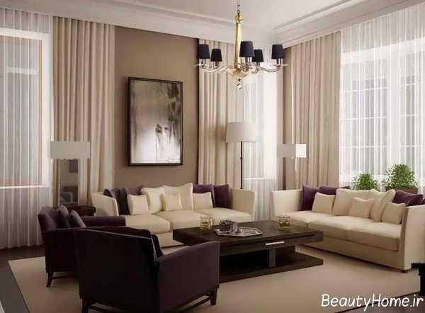 دکوراسیون زیبا و مدرن اتاق نشیمن