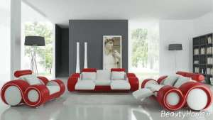 مدل مبل قرمز و سفید