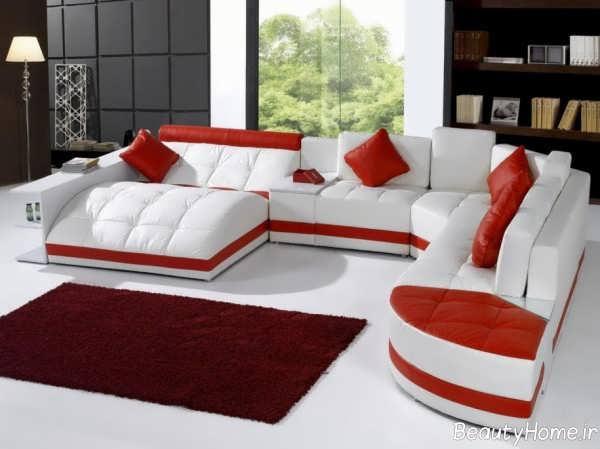 مدل مبلمان قرمز و سفید