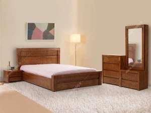 سرویس خواب چوبی شیک