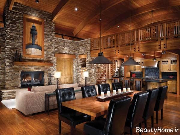 دکوراسیون داخلی خانه چوبی