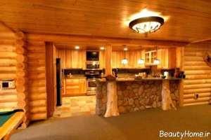 دکوراسیون زیبا خانه چوبی