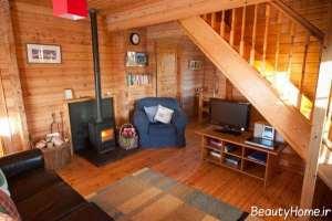دکوراسیون شیک خانه چوبی