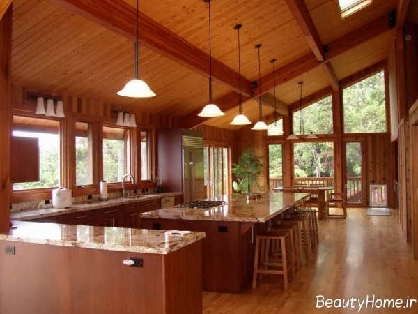 دکوراسیون داخلی آشپزخانه چوبی