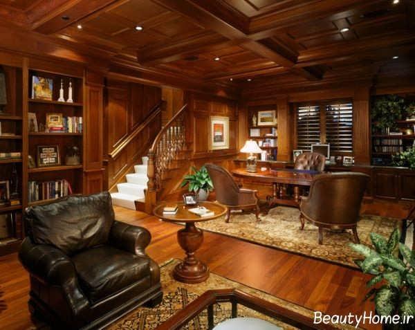 دکوراسیون زیبا و شیک خانه چوبی