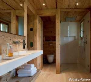 دکوراسیون سرویس بهداشتی چوبی
