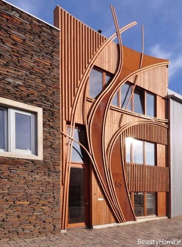 نمای ساختمان چوبی