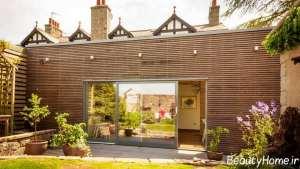 نمای چوبی و شیک ساختمان