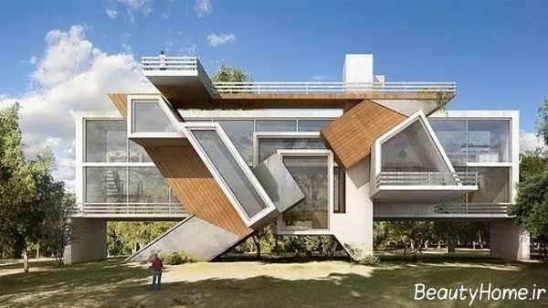 نمای خارجی زیبا و شیک ساختمان