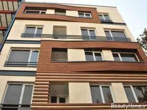 طراحی نمای ساختمان چوبی