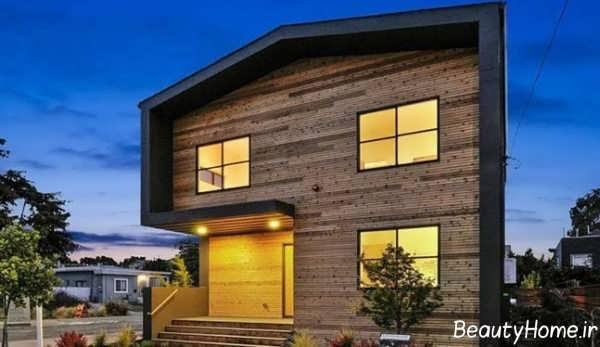 نمای زیبا و شیک خانه آپارتمانی