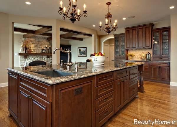 دکوراسیون زیبا و مجلل آشپزخانه