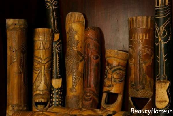 تزیین شیک و خلاقانه منزل با چوب بامبو
