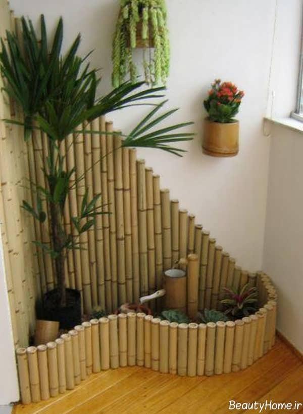 تزیین کردن منزل با چوب بامبو