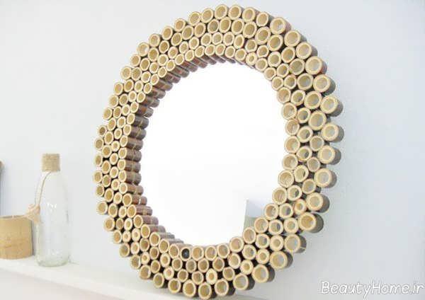 تزیین دیوار منزل با چوب بامبو