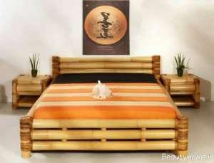 تزیین اتاق خواب با چوب بامبو