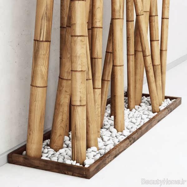 تزیین زیبا و خلاقانه منزل با چوب بامبو