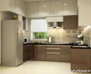 مدل کابینت دو رنگ برای آشپزخانه