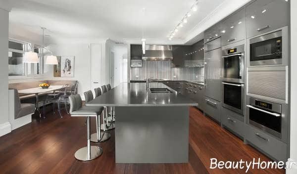 طرح کابینت آشپزخانه شیک و مدرن