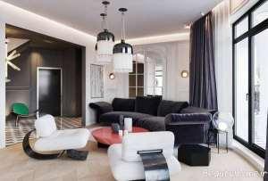 طراحی داخلی خانه آپارتمانی مدرن و زیبا