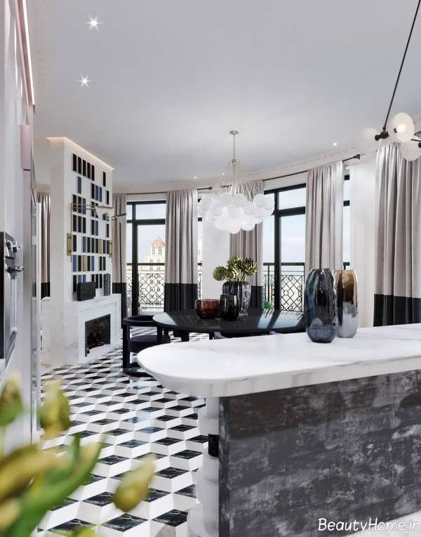 دکوراسیون زیبا و شیک خانه آپارتمانی