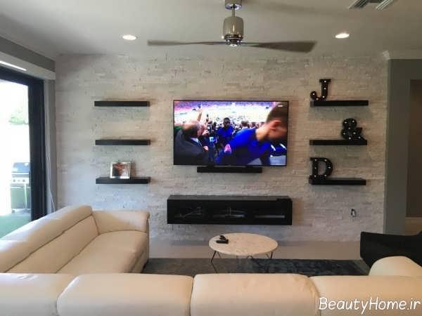 میز تلویزیون ساده و دیواری