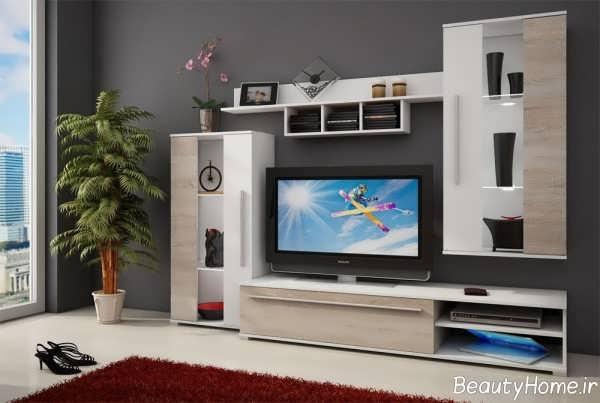 میز تلویزیون سفید و ساده