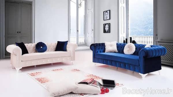 اتاق پذیرایی با مبل چستر