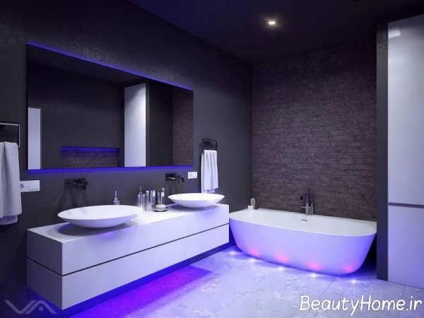 حمام لاکچری یاسی رنگ