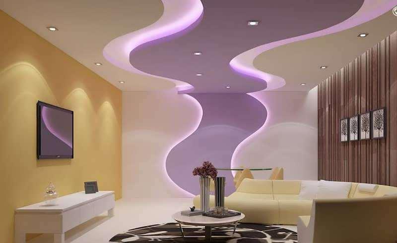 دکوراسیون خلاقانه اتاق پذیرایی با رنگ یاسی