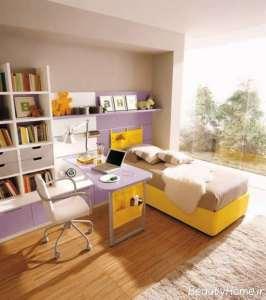 طراحی خلاقانه اتاق با تم یاسی