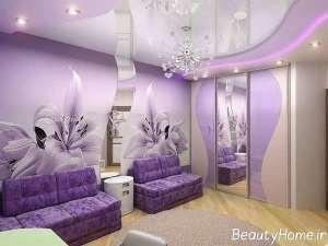 اتاق پذیرایی با تم زیبا