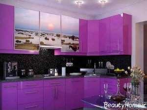 رنگ یاسی در دیزاین آشپزخانه