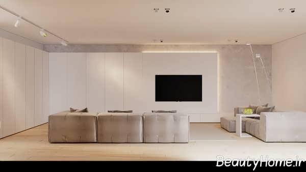 اتاق نشیمن سفید