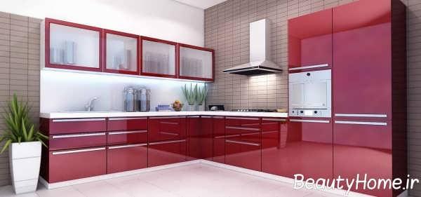 مدل کابینت جدید برای آشپزخانه بزرگ