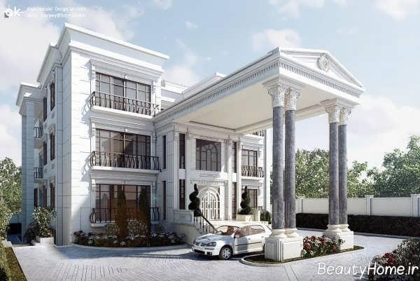 نمای کلاسیک و شیک ساختمان