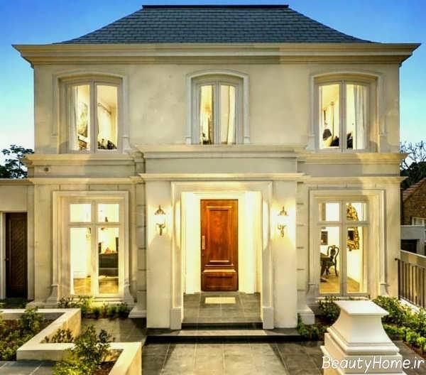 نورپردازی نمای کلاسیک ساختمان