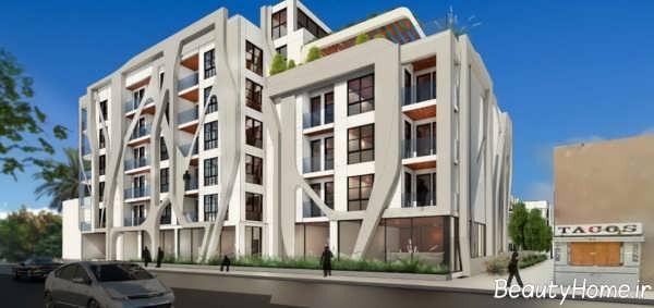 طراحی نما برای ساختمان آپارتمانی